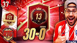 13TH IN THE WORLD MY 30-0 FUT CHAMPIONS REWARDS! FIFA 19 Ultimate Team #36 RTG