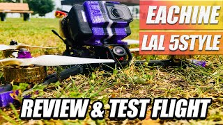 Budget FPV Freestyle PREBUILT Drone! - Eachine LAL5 Style Review!