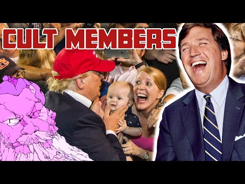 CREEPY - Tucker Carlson Inducts Viewers Into the MAGA CULT