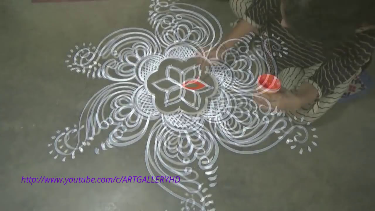 chowk purana rangoli design with dots by art gallery