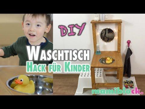 Waschtisch für Kinder aus einem Stuhl | DIY | mamiblock