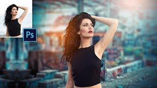 Photoshop cc tutorial | Outdoor Portrait Edit | Funky Girl | Photo Editing in Photoshop cc