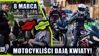 MOTOCYKLIŚCI ROZDAJĄ KWIATY! ???? *dzień kobiet* Young Riders Częstochowa | Mikkser
