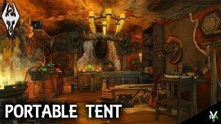 PORTABLE TENT: Amazing Mobile Player Home!!- Xbox Modded Skyrim Mod Showcase
