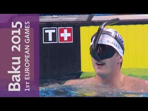 Men's blindfolded mermaid swimming!