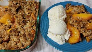 طريقة تحضير حلوى الدراق (الخوخ) مع عجينة مقرمشة Perfect Peach Crisp Recipe