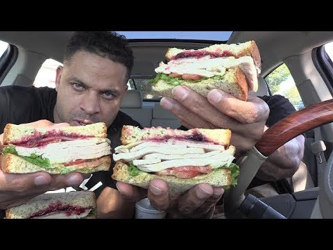 EATING ARBYS DEEP FRIED TURKEY GOBBLER @hodgetwins