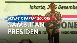 Pidato Lengkap Presiden Jokowi di Pembukaan Munas Partai Golkar