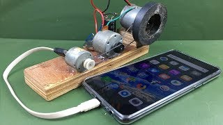 Free Energy 100% Mobile Charging self running machine generator using DC Motors