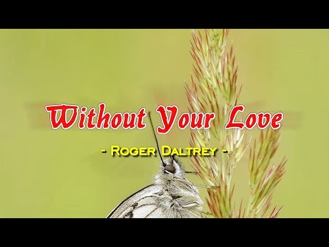 Without Your Love - Roger Daltrey (KARAOKE VERSION)
