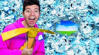 ESCAPING 100 Layers of DIAMOND! - Minecraft Trapped Challenge