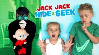 Jack Jack Hide and Seek, Screenslaver Sneaks! Incredibles 2 Family Game for Kids!