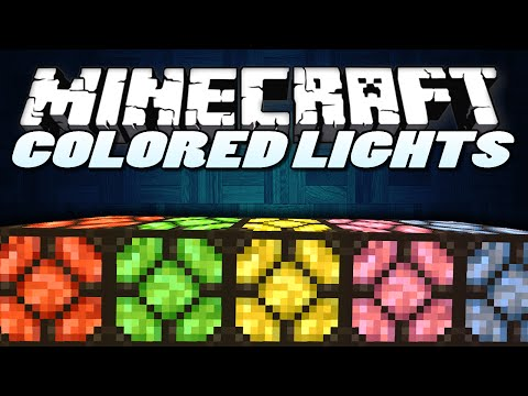 Minecraft Mods | COLOURED LIGHTS MOD | Minecraft (Minecraft Mod Showcase)