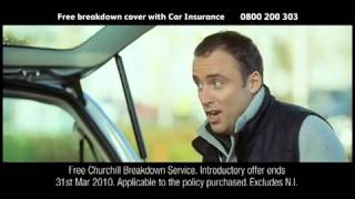 Churchill s parachute jump car insurance advert