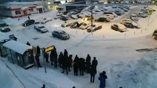 Очередь к кассе в Бутово. 05.02.2018