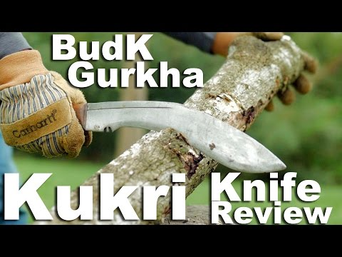 The $20 BudK Budget Gurkha Kukri knife review.  A cheap fun chopper.