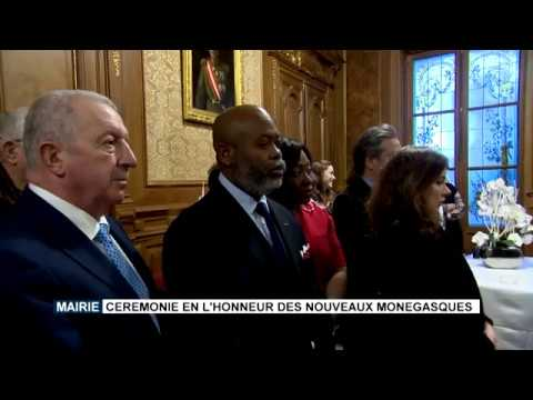 Monaco Town Hall: Ceremony to honour new Monegasques