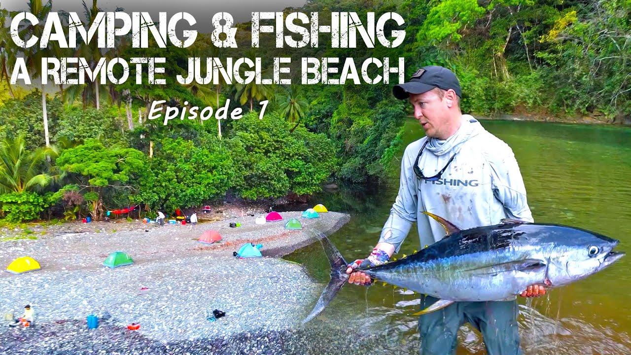 Remote Jungle Camping & Fishing on Panama's Pacific Coast (TUNA & MAHI) - Part 1