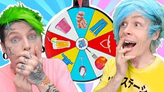 Trying WE TESTED VIRAL TikTok LIFE HACKS AND TRICKS --Spin The Mystery Wheel CHALLENGE by 123 GO!