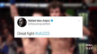 UFC Fighters react to Zabit Magomedsharipov vs. Kyle Bochniak Fight of the night at UFC 223