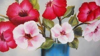Como pintar flores em Óleo Pinceladas Silvia Mongelos