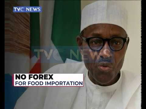 President Buhari instructs CBN to stop providing Forex for food import