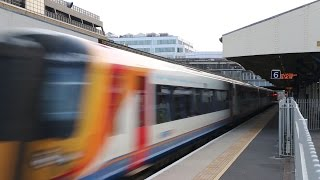 preview picture of video 'South West Trains Action at Wimbledon and Earlsfield'