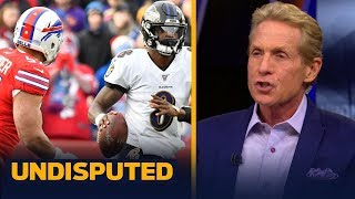Skip Bayless on whether Lamar Jackson's average game against Bills hurts MVP odds | NFL | UNDISPUTED