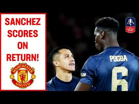 Sanchez Scores on Return to Arsenal | Arsenal v Manchester United | Emirates FA Cup 2018/19