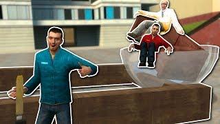 BUILDING CATAPULTS & RACE CARS! - Garry's Mod Gameplay - Gmod Sandbox Building Challenge