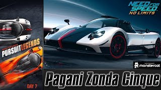 Need For Speed No Limits: Pagani Zonda Cinque   Pursuit Legends (Day 7 - Legacy)