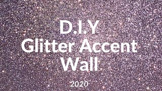 DIY Glitter Accent Wall Ft (Peel And Stick Wallpaper)
