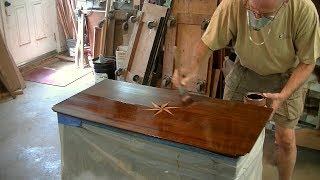 Refinishing a Compass Inlay Table Top