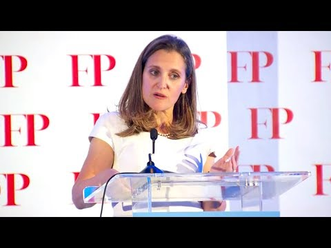 Freeland speaks out against populism: 'Facts matter, truth matters'