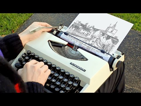Landscape Art Made with a Typewriter