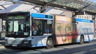 preview picture of video '[Sound] Bus MAN NL 273 (Wagennr. 0603) der NEW, Mönchengladbach'