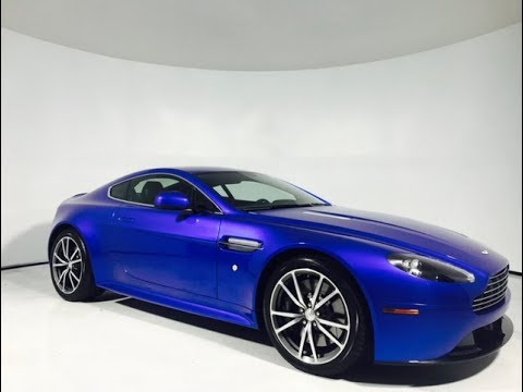 Pre-Owned 2014 Aston Martin Vantage V8 S Coupe | Cobalt Blue/Sport Suspension