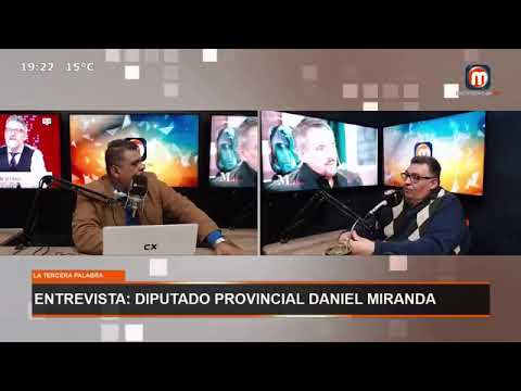 """El Diputado Provincial Daniel Miranda estuvo en una entrevista en Medios Rioja Tv, en el programa """"La Tercera Palabra""""."""