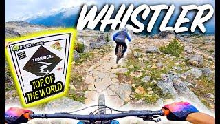Descending From the Highest Point At Whistler Bike Park