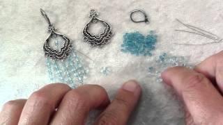 How To Make Blue Chandelier Earrings