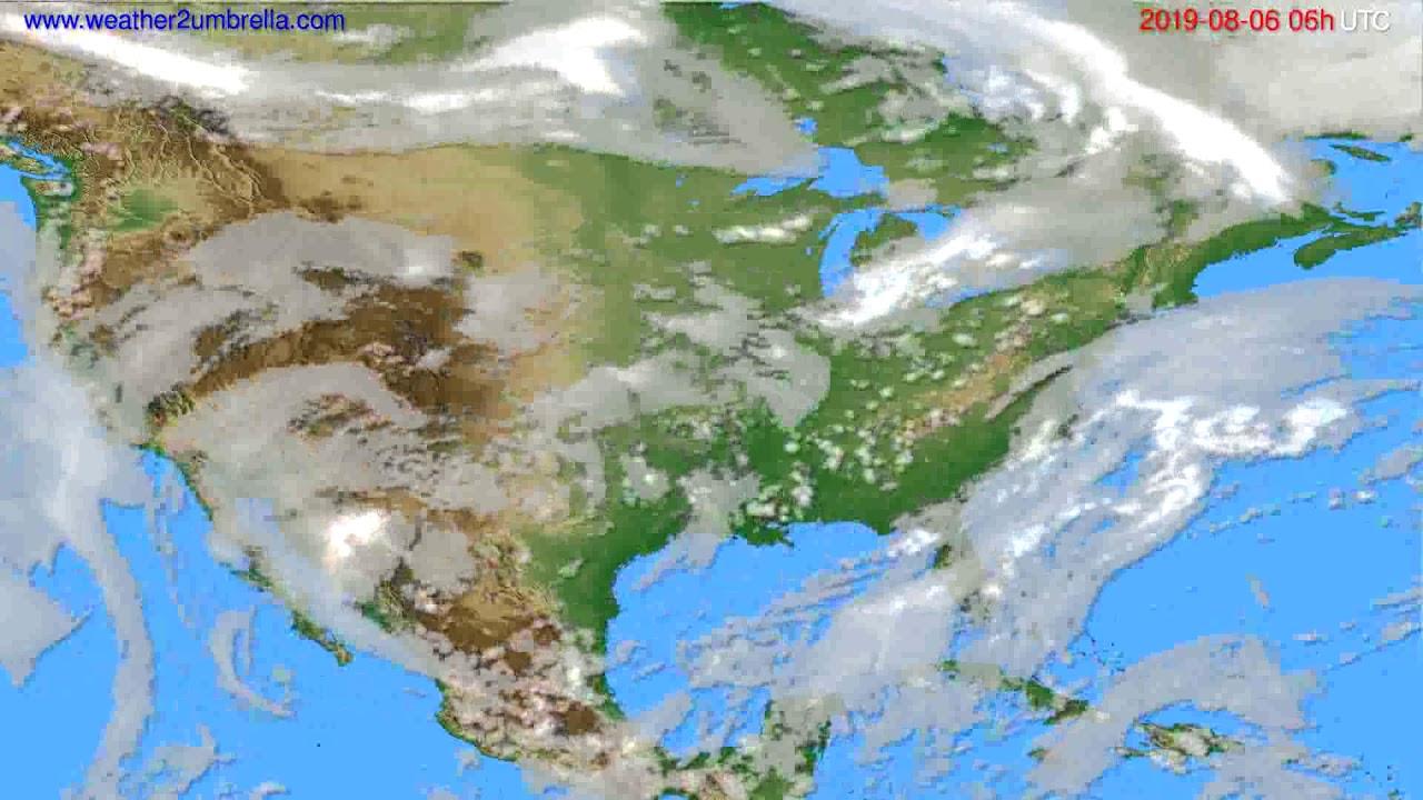 Cloud forecast USA & Canada // modelrun: 00h UTC 2019-08-04