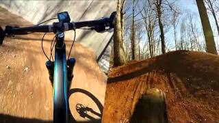 Slaughter Pen Downhill Flow Trail - Split View