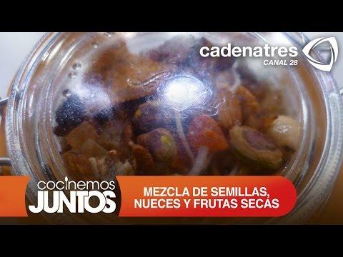 ¿Cómo preparar mezcla de semillas, nueces y frutas secas para lunch?