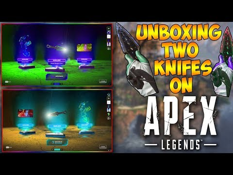 How to Get 2 Apex Legends Wraith Knifes (Apex Legends Apex Pack Opening Wraith Heirloom Knife)