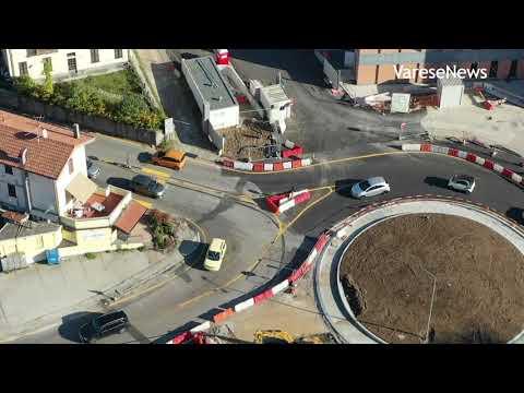 Area della nuova Esselunga di Varese, il punto sui lavori visti dal drone