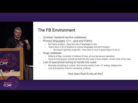 RustConf 2019 - Bringing Rust Home to Meet the Parents by Jeremy Fitzhardinge
