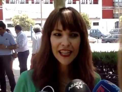 Paula Ortiz entrevistada en el Paseo de la Fama de Cariñena