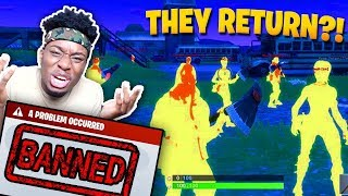 TWO FORTNITE HACKERS TRY TO BAN ME FOREVER! Fortnite: Battle Royale HACKERS RETURN!