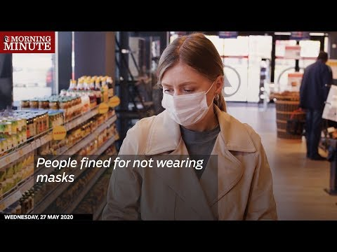 People fined for not wearing masks