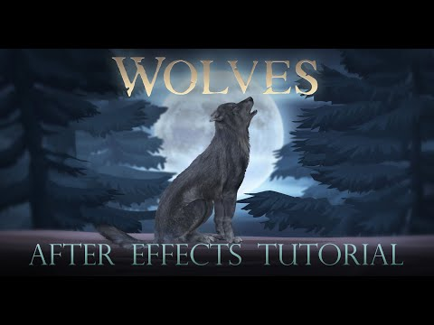 wolves after effects tutorial by creation effects